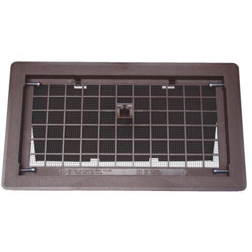 Witten 8 In. x 16 In. Blue Manual Foundation Vent with Damper