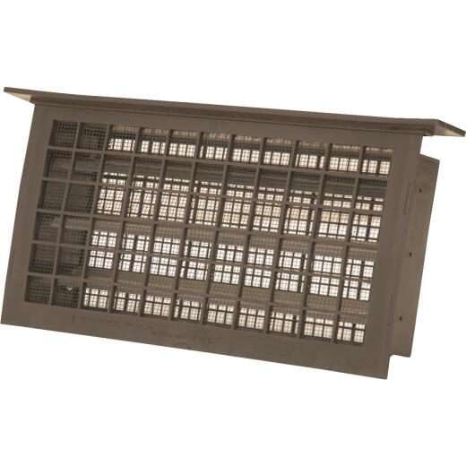 Witten 8 In. x 16 In. Brown Automatic Foundation Ventilator with Lentil