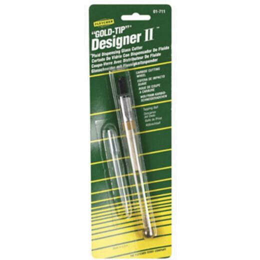 Fletcher Terry 140 Deg Tungsten Carbide Gold-Tip Designer II Fluid Glass Cutter