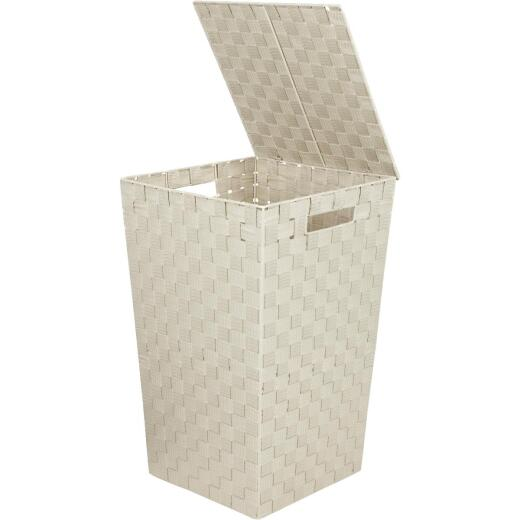 Home Impressions 13 In. x 20.5 In. H. Woven Laundry Hamper, Beige