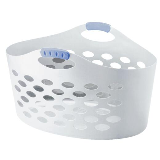 Rubbermaid Flex 'N Carry White Laundry Basket